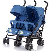 Коляска-трость для двойни Citi Twin, Baby Care, синий