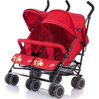 Коляска-трость для двойни Citi Twin, Baby Care, красный