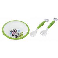 Набор посуды Коровка, Саnpol Babies, зеленый