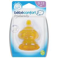 Комплект из 2-х сосок из латекса для бутылочек с широким горлышком, 6-24 мес., Bebe Confort