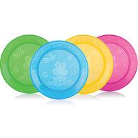 Набор плоских тарелок, 4шт., Nuby
