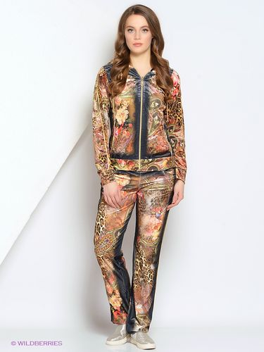 Женский велюровый костюм Eze состоит из толстовки с полноразмерной молнией  и штанов с логотипом Eze. Леопардовая окраска ткани с черной вставкой  придает ... 7530ac187fe