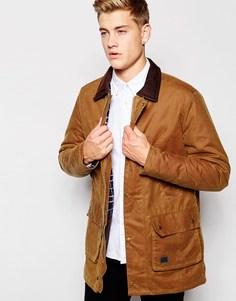 Вощеная куртка с вельветовым воротником Brixtol - Песок