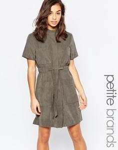 Платье-рубашка с поясом Vero Moda Petite - Белуга