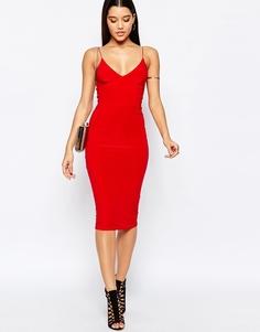 Платье-миди с бретельками Club L - Красный