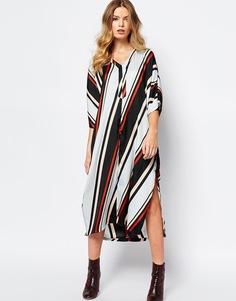 Oversize-платье в полоску First & I - Полоски