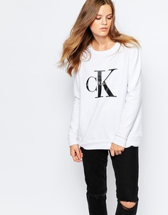Свитшот с логотипом Calvin Klein Jeans - Белый