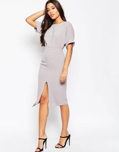 Платье с разрезом спереди ASOS - Серый