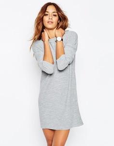 Свободное платье в рубчик ASOS - Серый