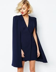 Платье-накидка с разрезом сзади Lavish Alice - Темно-синий