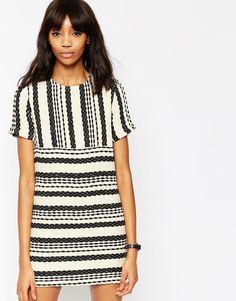 Платье из натуральных волокон в полоску ASOS - Мульти