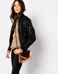 Винтажная куртка‑пилот Alpha Industries Ma1 - Черный с розовым золотом