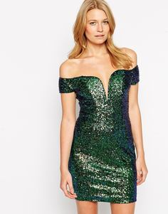 Платье с пайетками Rare - Мульти
