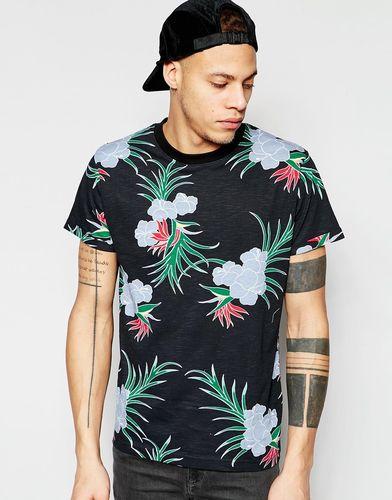 Двустороняя футболка с тропическим принтом D-Struct - Черный
