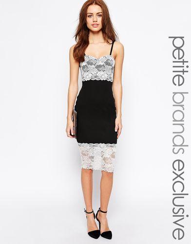 Платье-футляр с кружевной отделкой Lipstick Boutique Petite - Черный