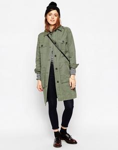 Куртка в стиле милитари с карманами ASOS - Хаки