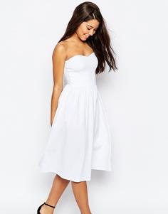 Платье-бандо средней длины ASOS - Белый
