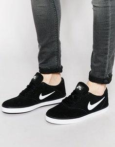 Кроссовки в клетку Nike SB 705265-006 - Черный