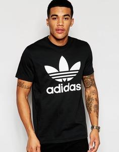 Футболка с логотипом-трилистником adidas Originals AJ8830 - Черный