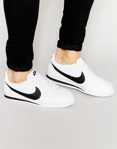 Кожаные кроссовки Nike Cortez 749571-100 - Белый