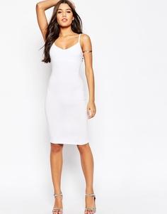 Облегающее платье миди на бретельках ASOS - Белый