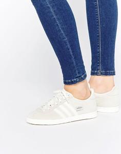 Грязно-белые замшевые кроссовки adidas Originals Gazelle OG - Бежевый
