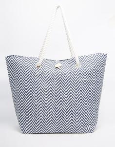 Пляжная сумка с шевронным принтом South Beach