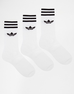 Набор из 3 пар однотонных носков adidas Originals S21489 - Белый