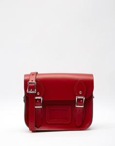 Маленькая сумка сэтчел Leather Satchel Company - Ярко-красный