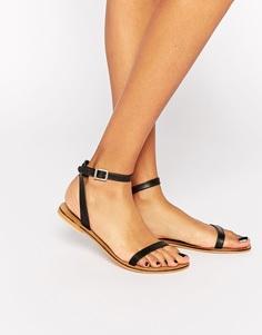 Кожаные сандалии ASOS FINLAY - Черный