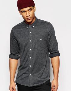 Трикотажная рубашка с длинными рукавами ASOS - Угольный