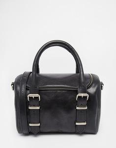 Кожаная сумка-бочонок Urbancode - Черный