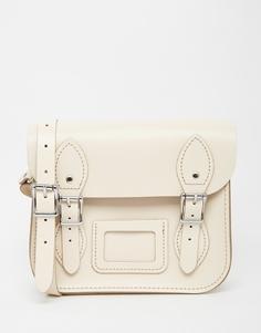 Маленькая сумка сэтчел Leather Satchel Company - Облачный кремовый
