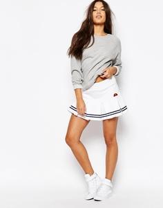 Мини-юбка со складками Ellesse - Белый
