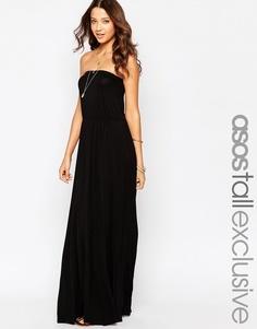 Платье-бандо макси ASOS TALL - Красный