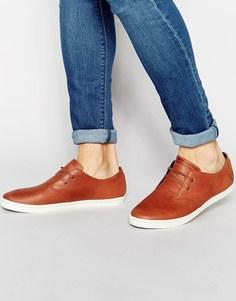 Кожаные кроссовки Fred Perry Byron - Коричневый