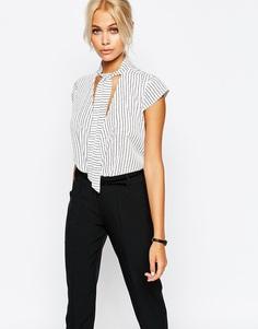 Рубашка в полоску с запахом Fashion Union - Мульти