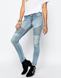 Байкерские джинсы с заниженной талией Noisy May Eve - Синий
