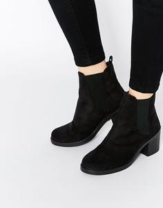 Ботинки челси на каблуке ASOS RIBBON - Черный