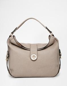 Объемная сумка на плечо Dune - Серо-коричневый