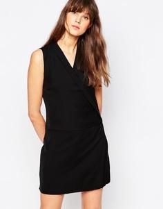 Платье без рукавов с запахом спереди Vero Moda - Черный