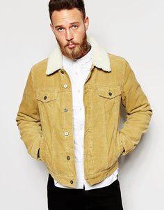Вельветовая куртка в стиле вестерн ASOS - Бежевый