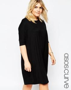 Платье-футболка ASOS CURVE - Черный