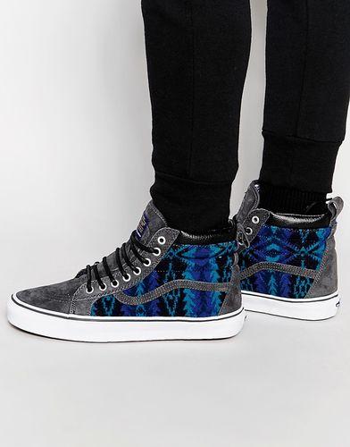 Синие высокие кроссовки Vans x Pendleton Sk8 VXH4HVL - Синий