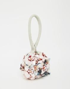 Сумочка-клатч с ручкой и цветами ASOS - Мульти