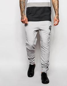 Выбеленные спортивные брюки Religion - Светло-серый камень