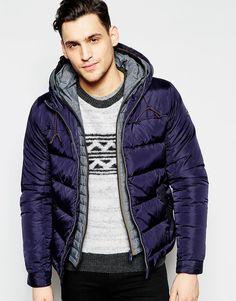 Классическая куртка‑пилот с двойным капюшоном Scotch & Soda - Темно-синий