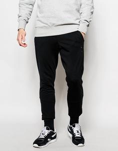 Черные спортивные штаны зауженного кроя Reebok AK0489 - Черный