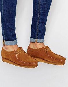Замшевые ботинки Clarks Original Wallabee - Коричневый