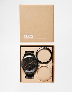 Часы со сменными безелями ASOS - Черный